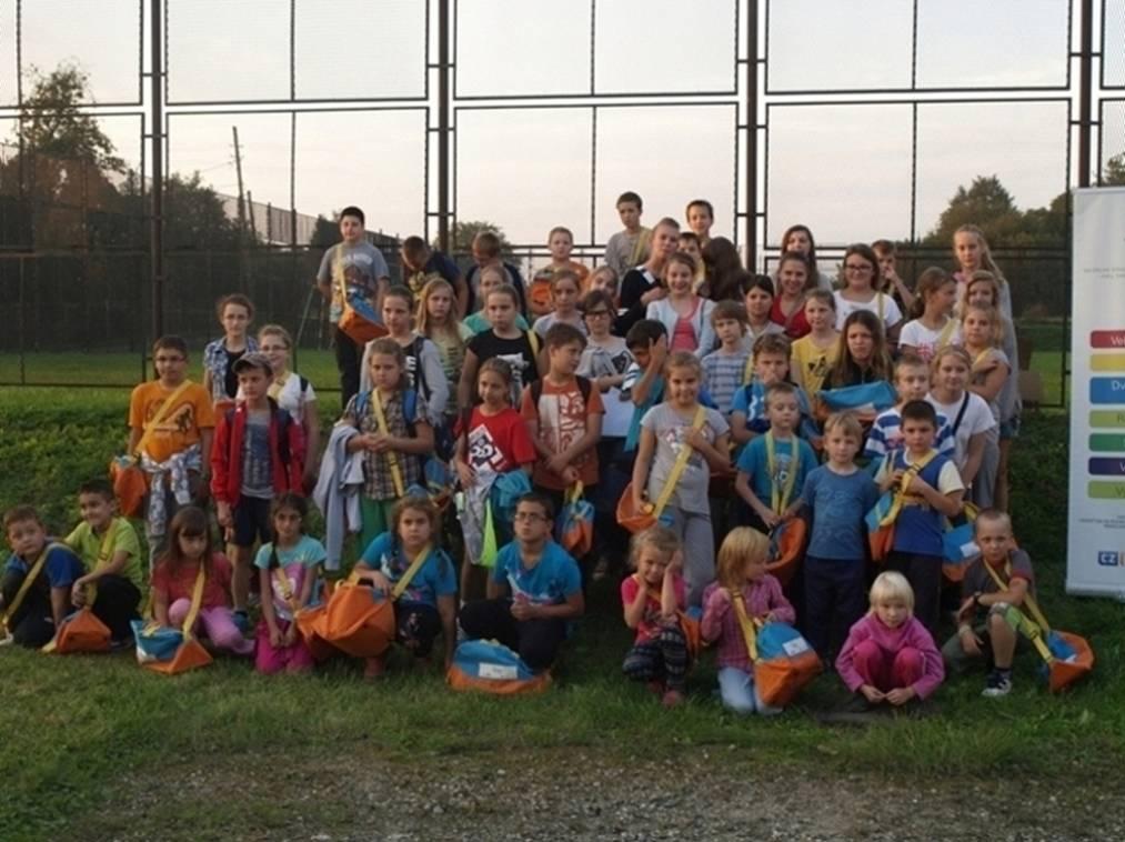 Sportovní den s polskými dětmi se náramně vydařil